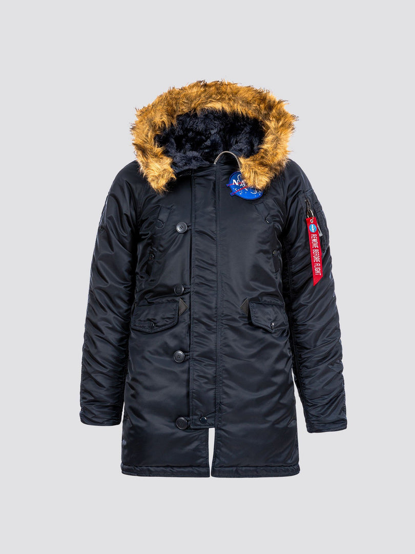 N-3B NASA PARKA W OUTERWEAR Alpha Industries REPLICA BLUE L