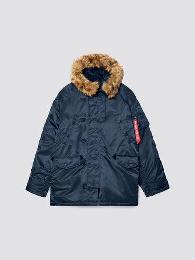 N-3B PARKA (HERITAGE) OUTERWEAR Alpha Industries REPLICA BLUE XS