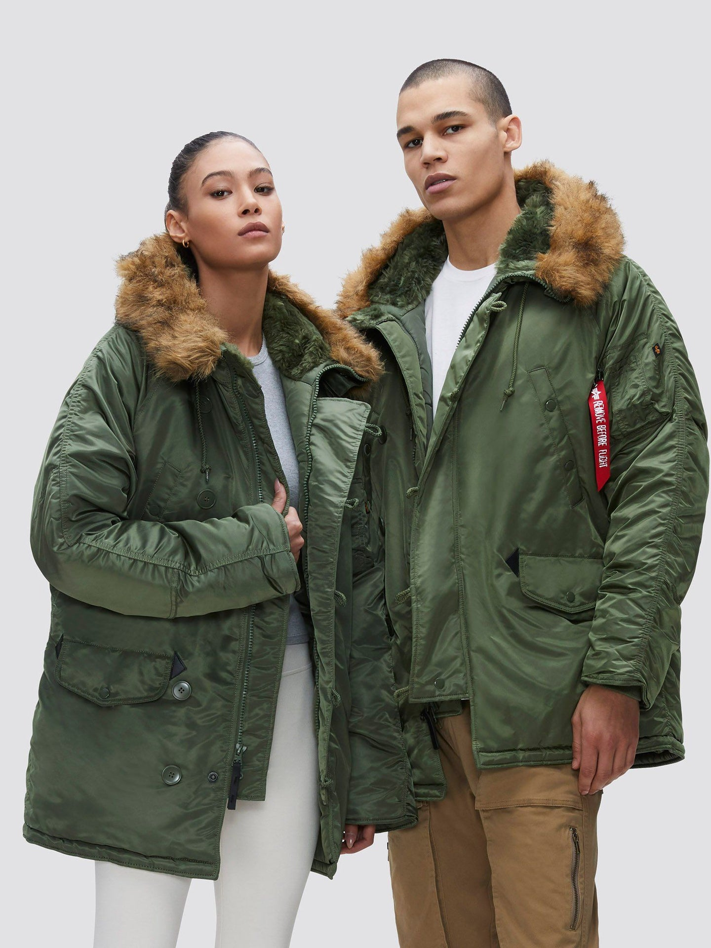 N-3B PARKA (HERITAGE) OUTERWEAR Alpha Industries SAGE GREEN XS