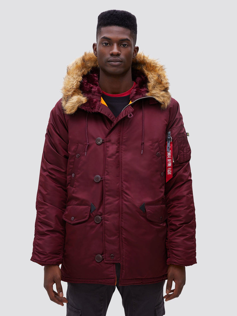 N-3B SLIM FIT GEN I PARKA OUTERWEAR Alpha Industries MAROON XS
