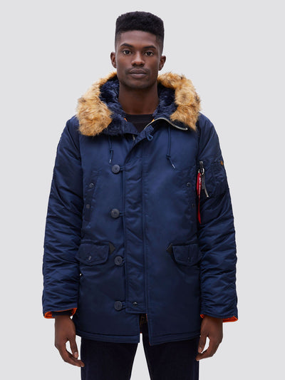 N-3B SLIM FIT GEN I PARKA OUTERWEAR Alpha Industries REPLICA BLUE XS