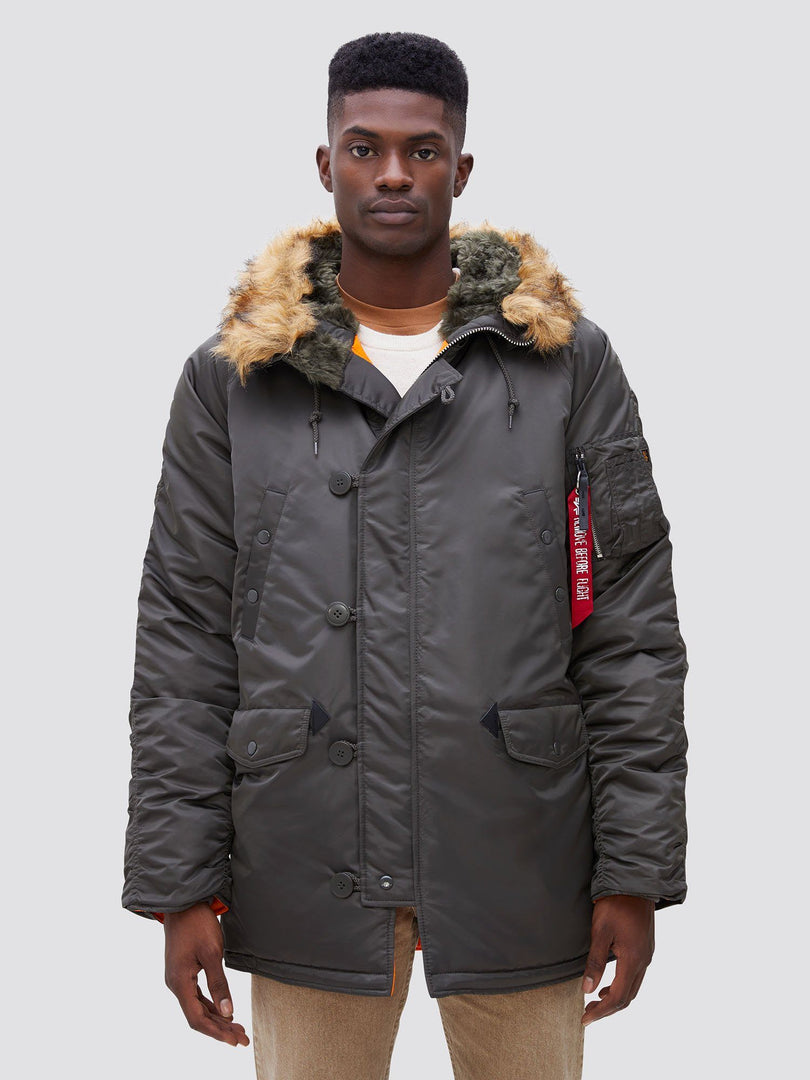 N-3B SLIM FIT GEN I PARKA OUTERWEAR Alpha Industries REPLICA GREY XS