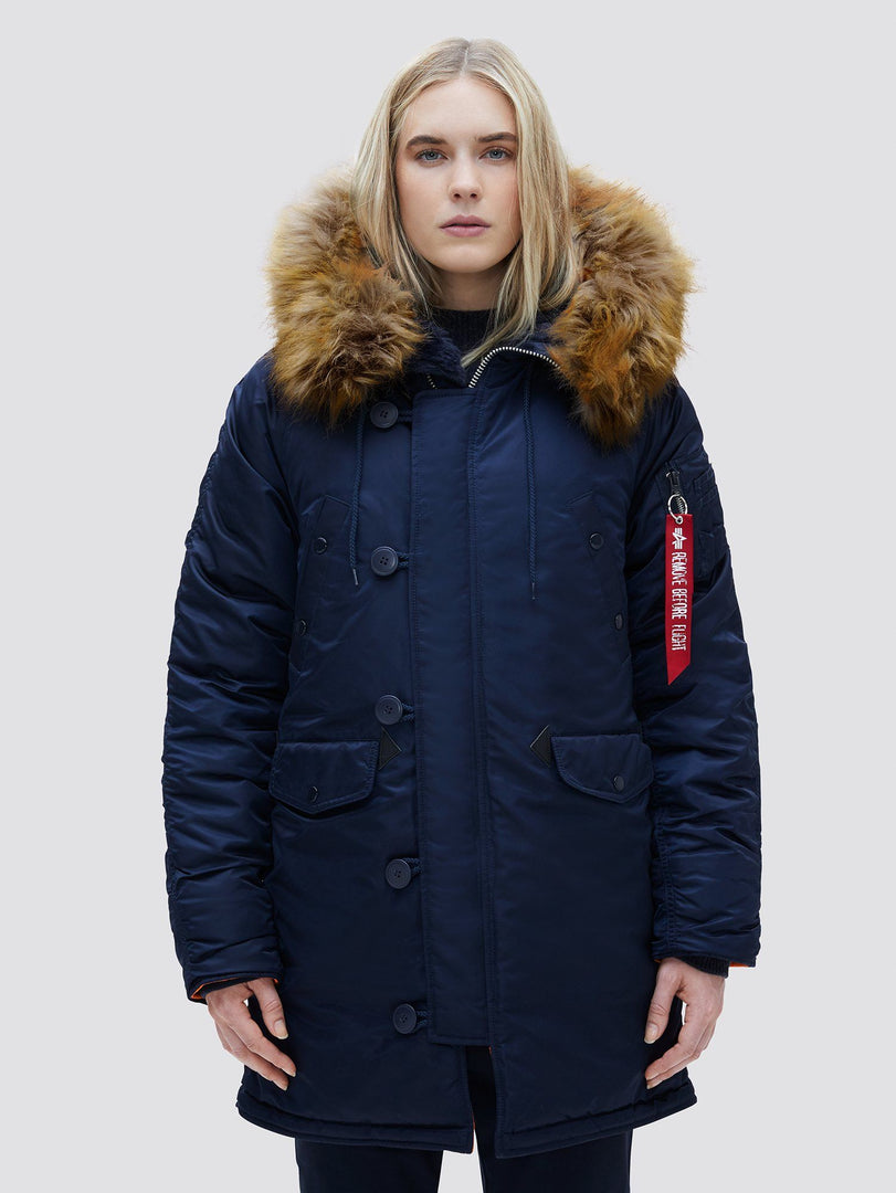 N-3B W PARKA OUTERWEAR Alpha Industries REPLICA BLUE L