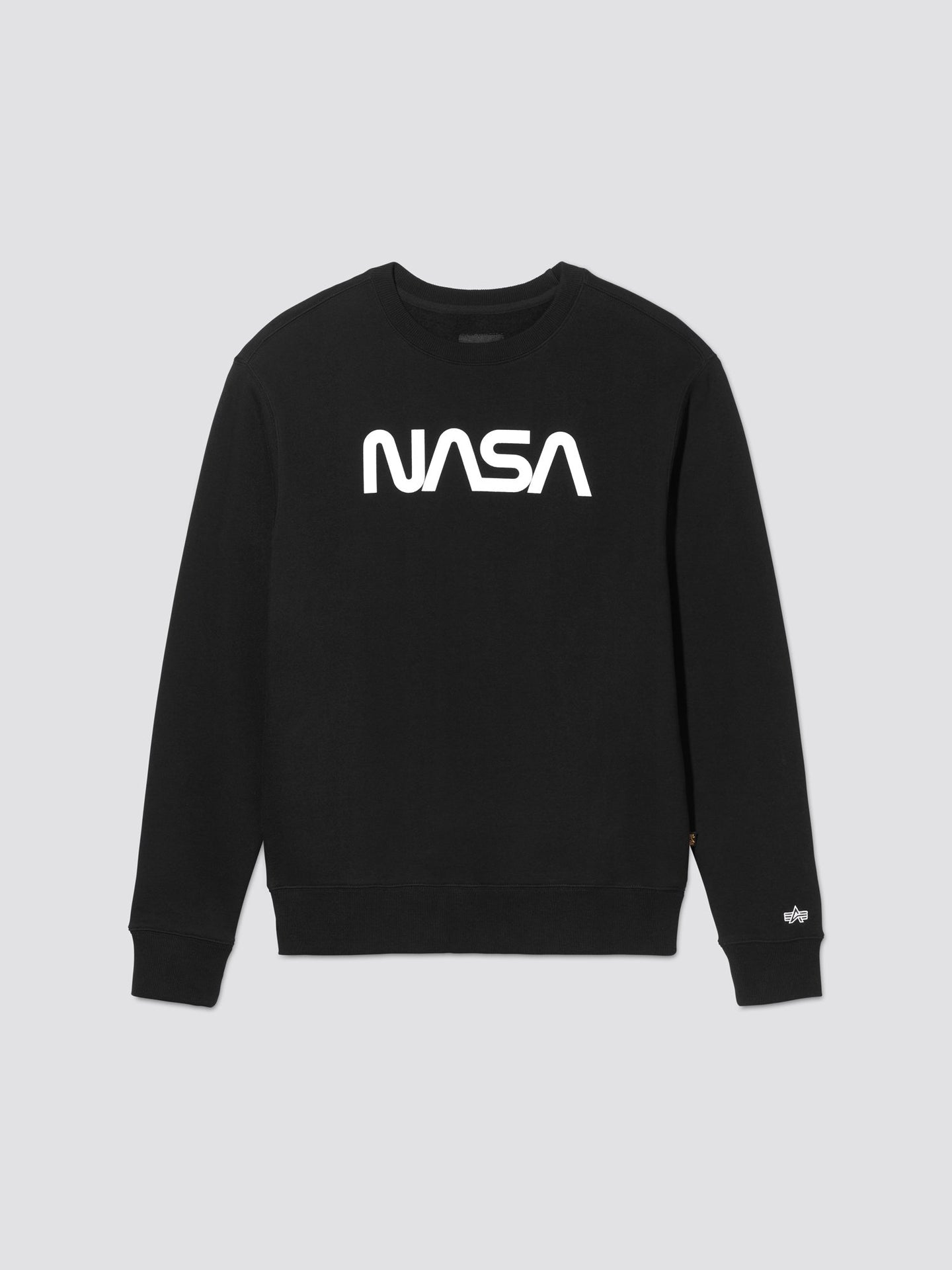 NASA II CREW SWEATSHIRT TOP Alpha Industries, Inc. BLACK 2XL