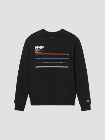 NASA LINE CREW SWEATSHIRT TOP Alpha Industries, Inc. BLACK 2XL