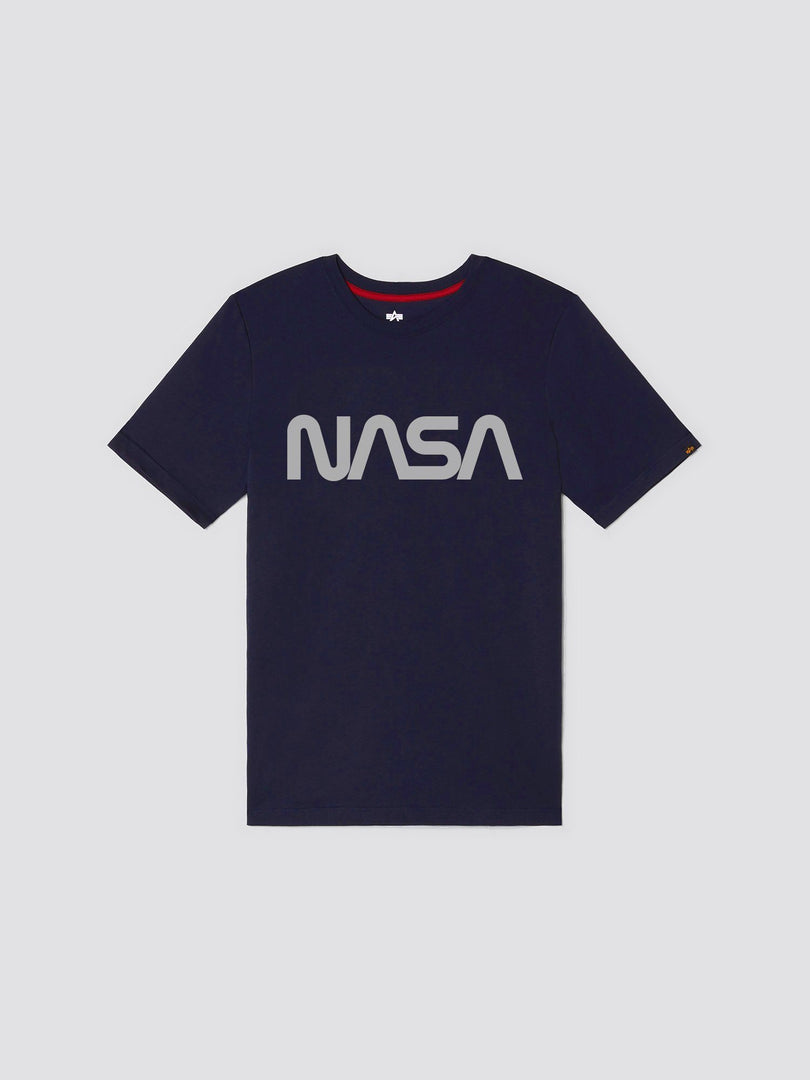 NASA LOGO REFLECTIVE II TEE TOP Alpha Industries, Inc. REPLICA BLUE 2XL