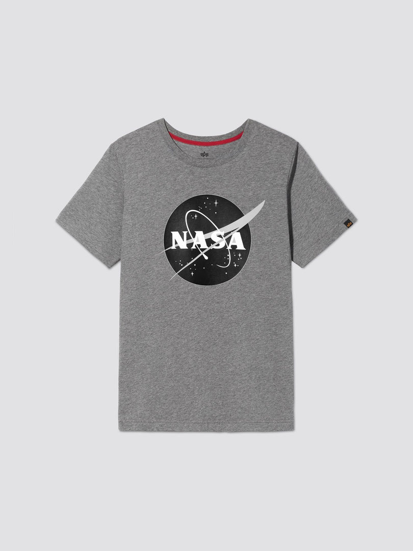 NASA LOGO TEE TOP Alpha Industries, Inc. MEDIUM CHARCOAL HEATHER 2XL