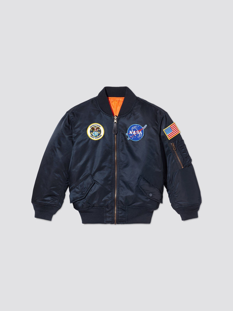NASA MA-1 BOMBER JACKET Y OUTERWEAR Alpha Industries REPLICA BLUE 2T