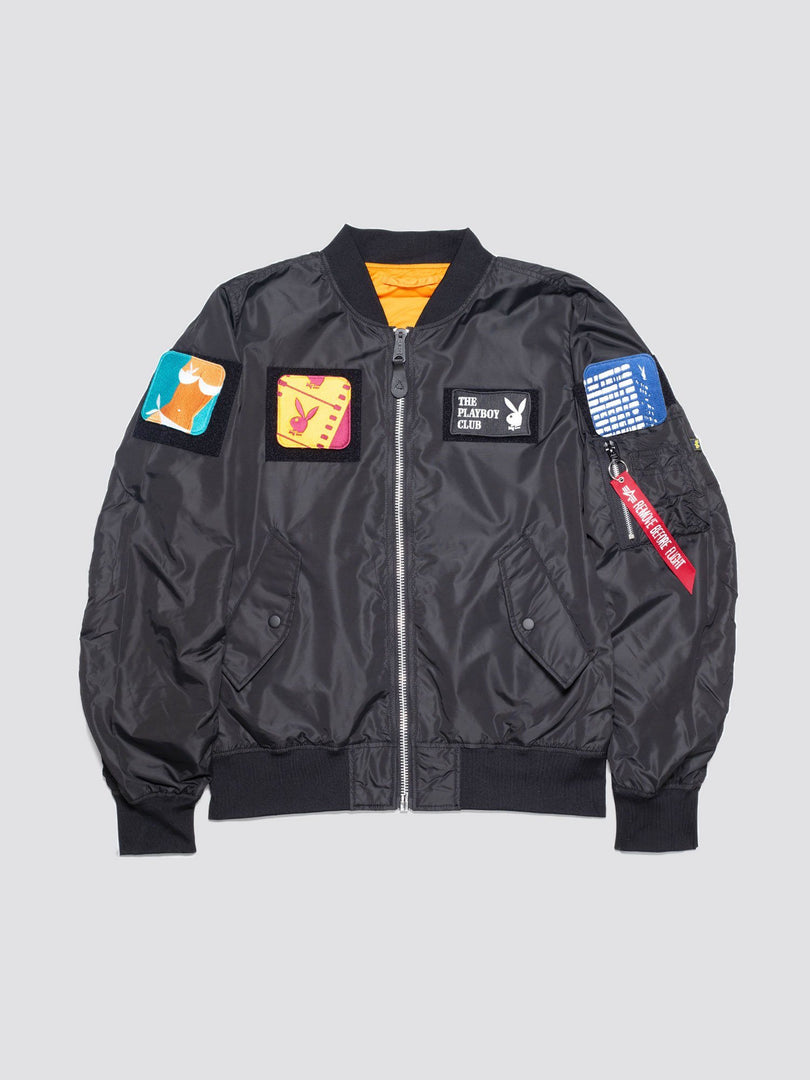 PLAYBOY X ALPHA L-2B FLEX BOMBER JACKET OUTERWEAR Alpha Industries BLACK 2XL