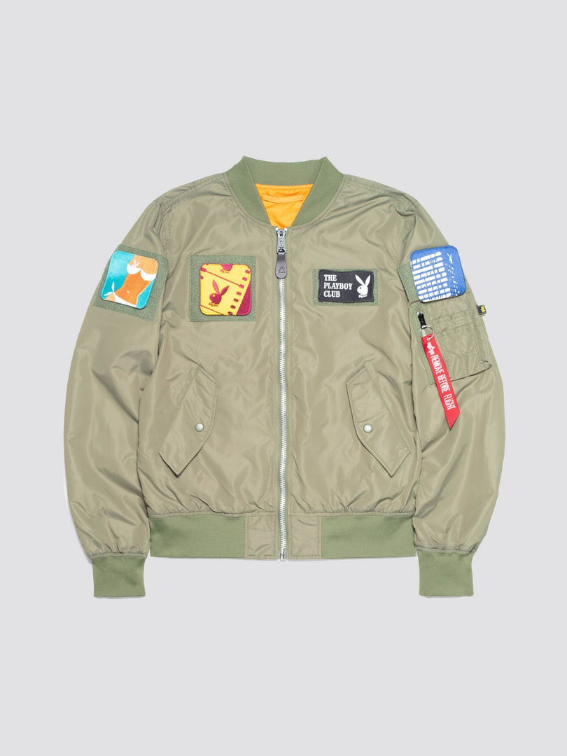 PLAYBOY X ALPHA L-2B FLEX BOMBER JACKET OUTERWEAR Alpha Industries SAGE 2XL