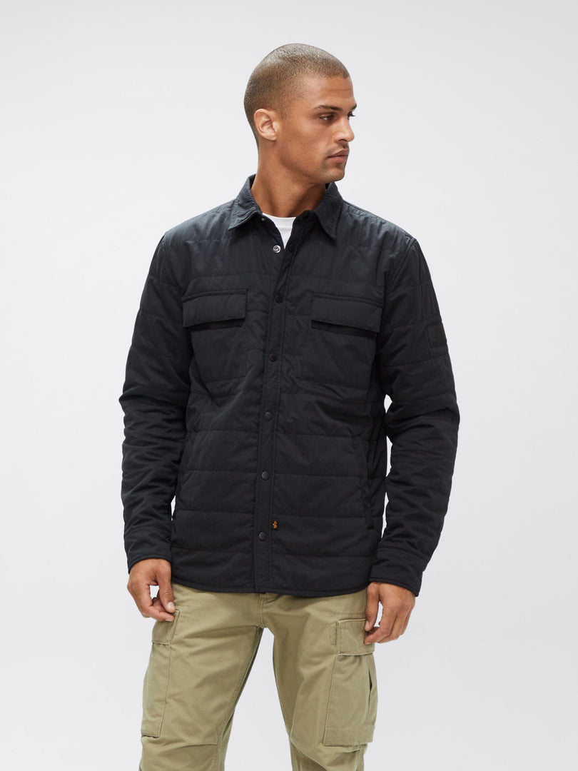QUILTED SHIRT UTILITY JACKET OUTERWEAR Alpha Industries, Inc. BLACK 2XL