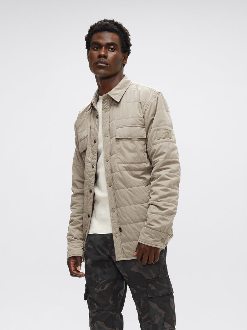 QUILTED SHIRT UTILITY JACKET OUTERWEAR Alpha Industries, Inc. DARK KHAKI 2XL