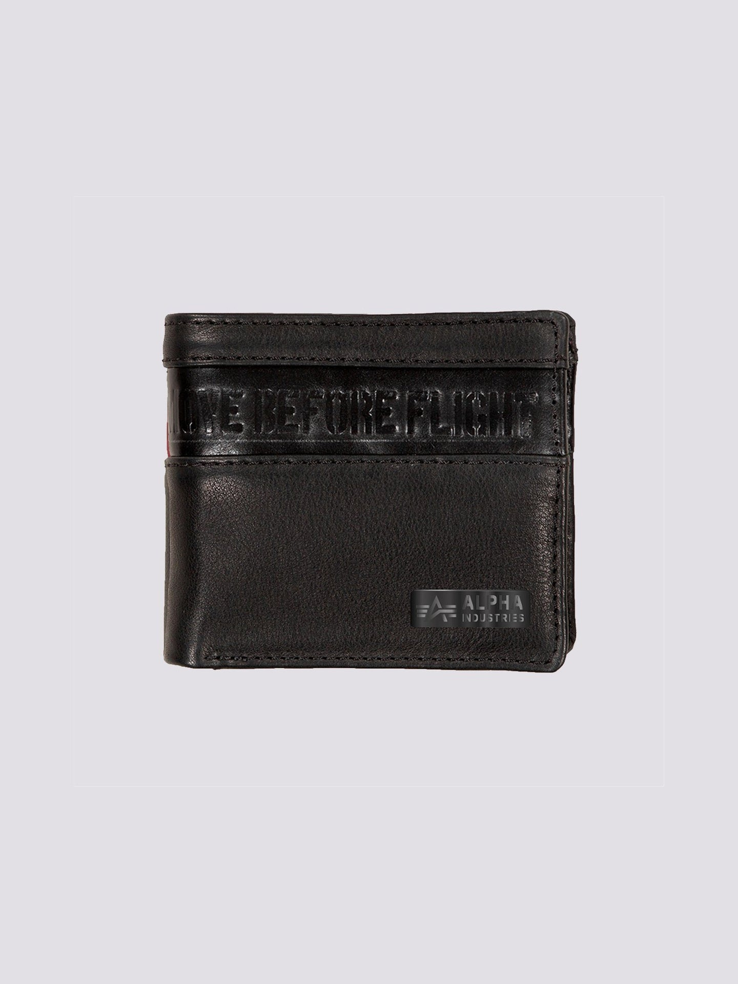 RBF LEATHER WALLET ACCESSORY Alpha Industries, Inc. BLACK O/S