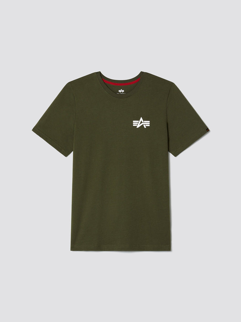 REFLECTIVE SMALL LOGO TEE SALE Alpha Industries, Inc. DEEP OLIVE 2XL