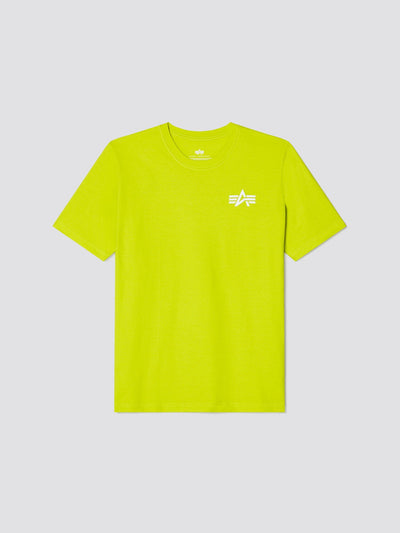 REFLECTIVE SMALL LOGO TEE SALE Alpha Industries, Inc. NEON YELLOW 2XL