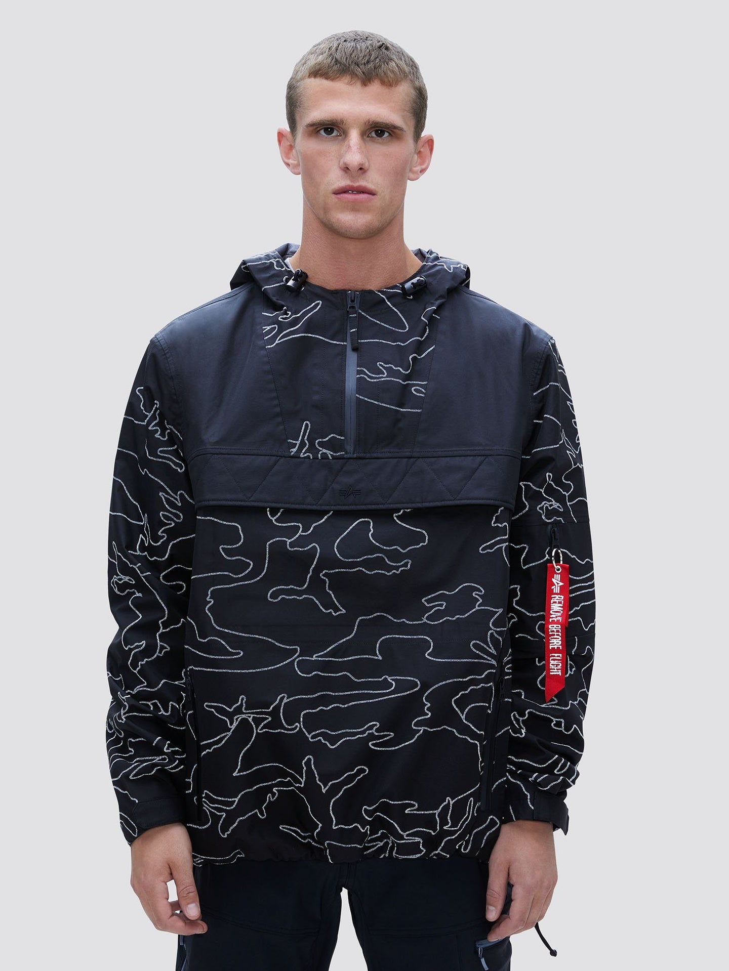 RIPSTOP ANORAK SALE Alpha Industries REFLECTIVE BLACK CAMO 2XL