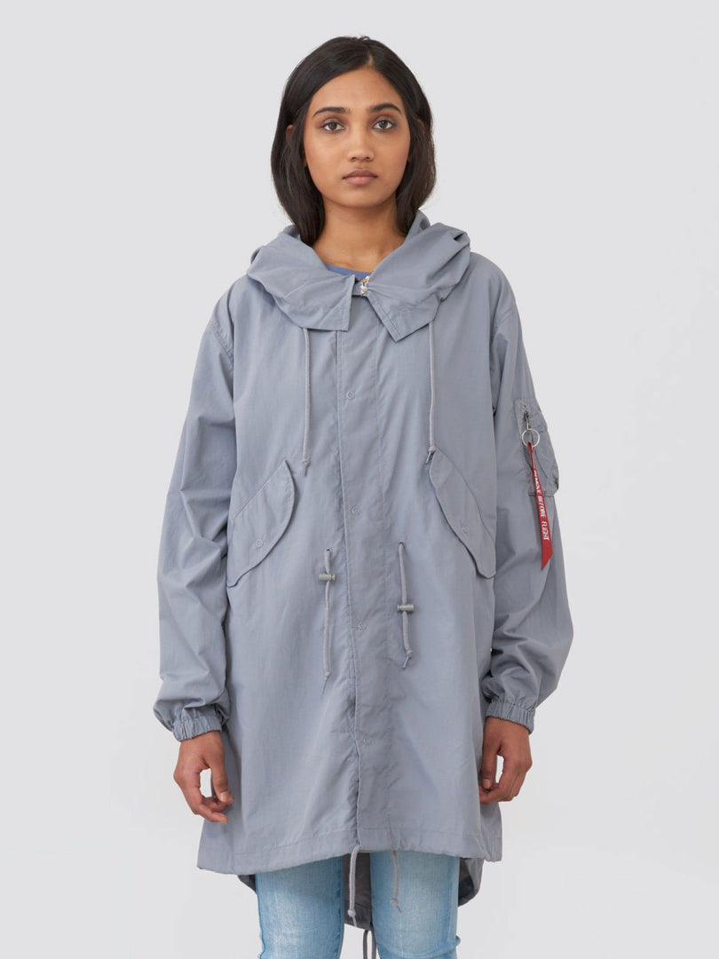 SHELL FISHTAIL PARKA W SALE Alpha Industries CADET GRAY L