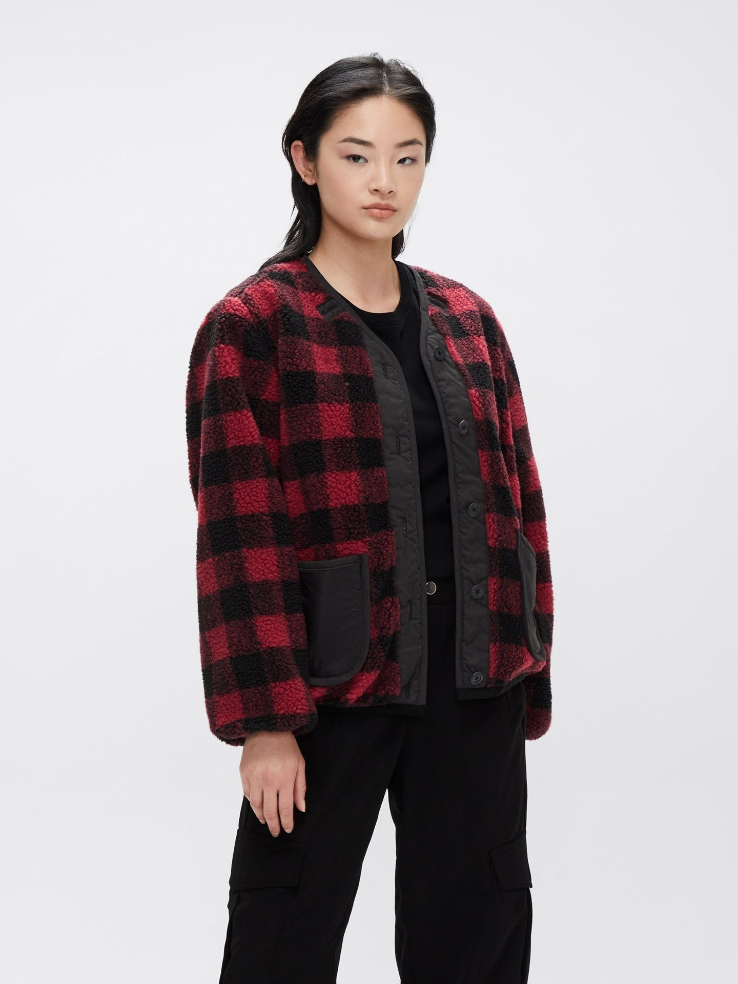 SHERPA UTILITY LINER W OUTERWEAR Alpha Industries, Inc. RED PLAID L