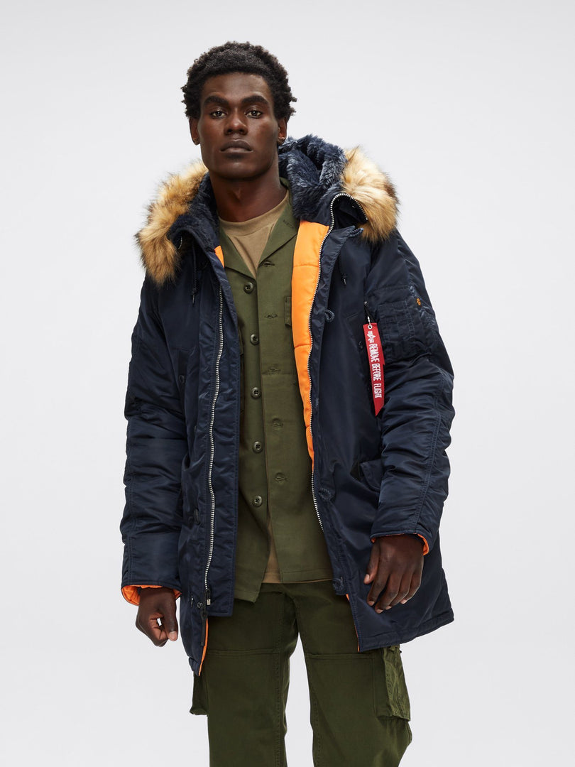 SLIM FIT N-3B PARKA - Not live as of 1.10.20 OUTERWEAR Alpha Industries REPLICA BLUE/ORANGE 2XL