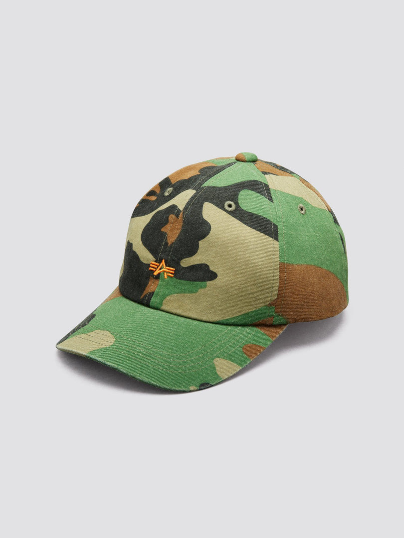 SMALL FLYING A LOW CAP ACCESSORY Alpha Industries, Inc. WOODLAND CAMO O/S