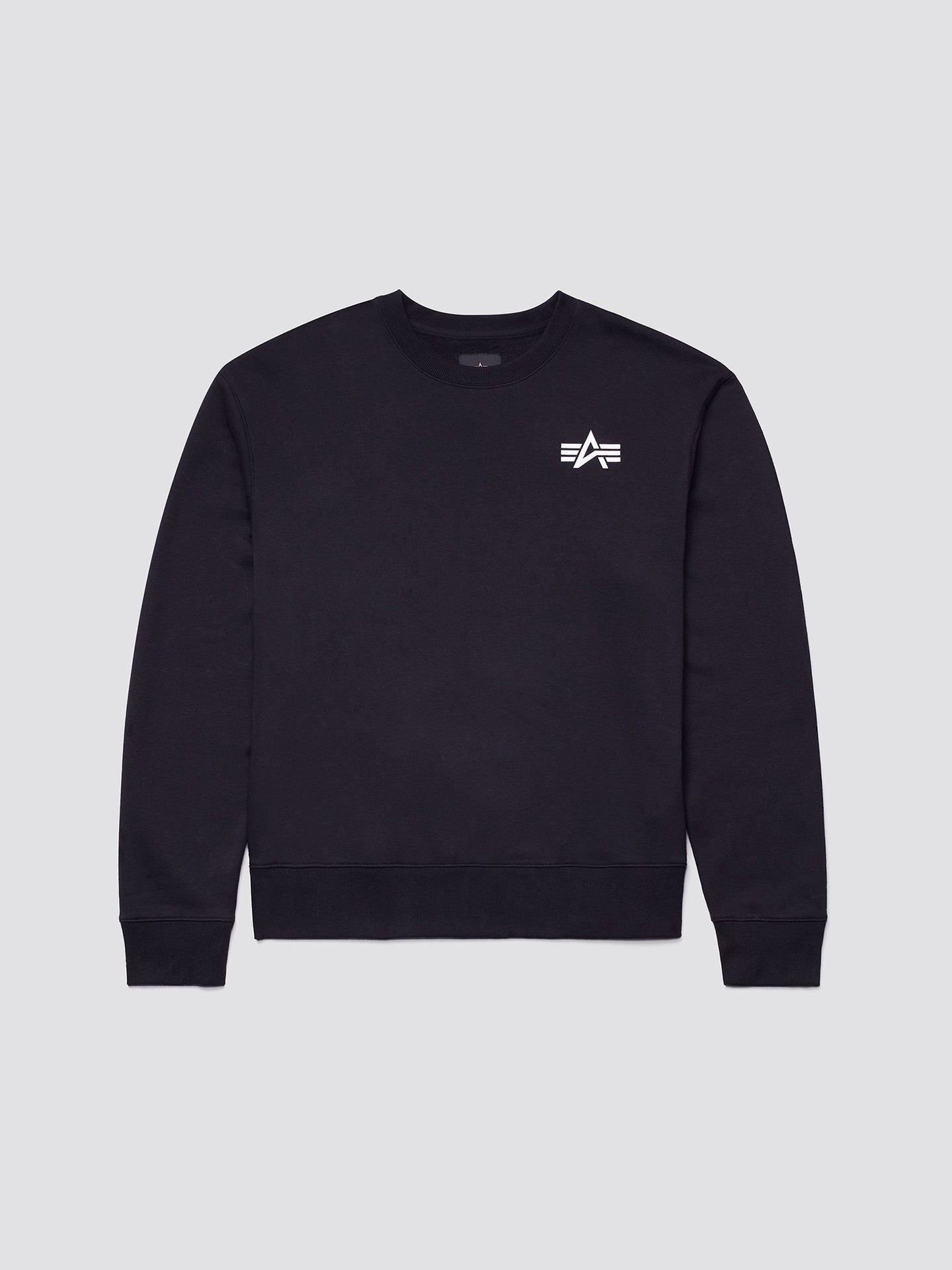 SMALL LOGO CREWNECK SWEATSHIRT TOP Alpha Industries BLACK 2XL
