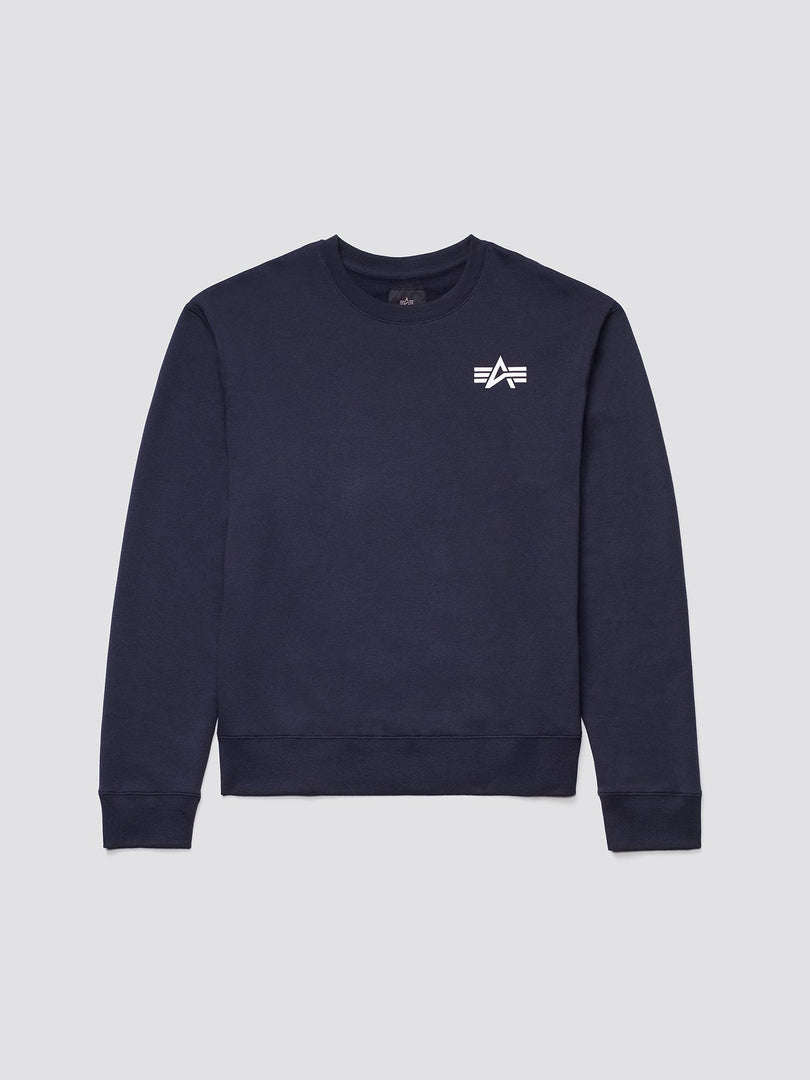 SMALL LOGO CREWNECK SWEATSHIRT TOP Alpha Industries REPLICA BLUE 2XL