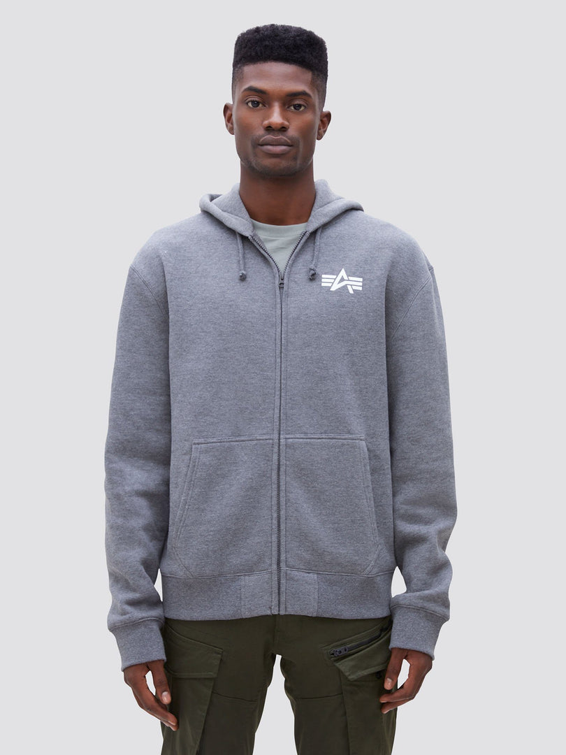 SMALL LOGO FULL-ZIP HOODIE TOP Alpha Industries