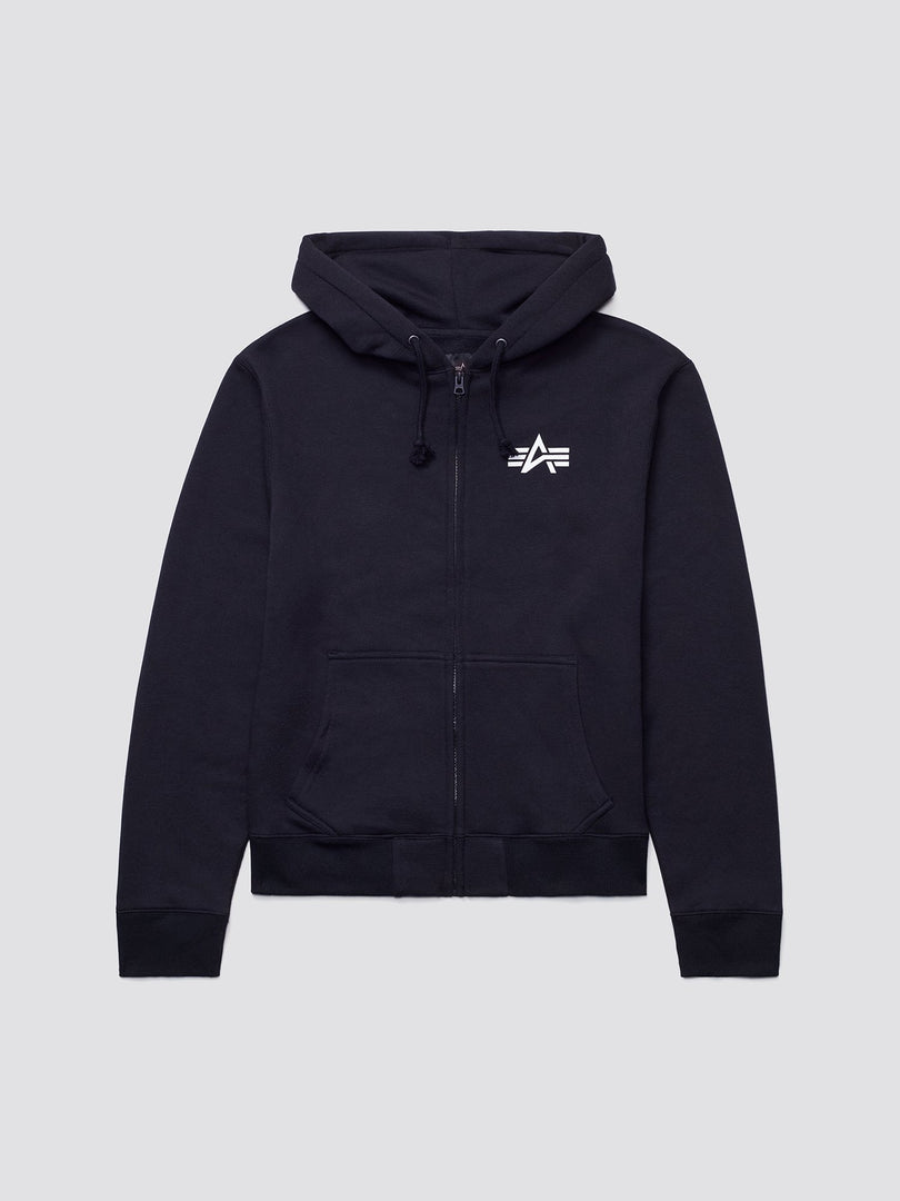 SMALL LOGO FULL-ZIP HOODIE TOP Alpha Industries BLACK 2XL