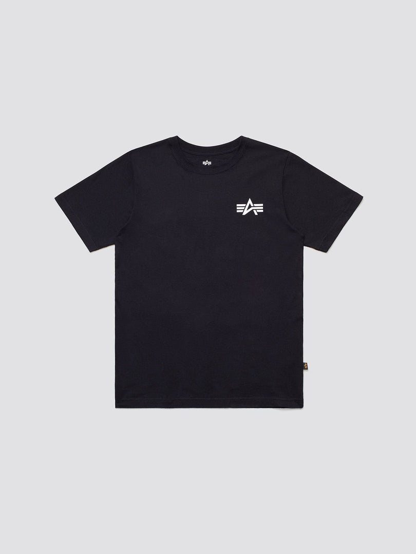 SMALL LOGO TEE TOP Alpha Industries BLACK 2XL