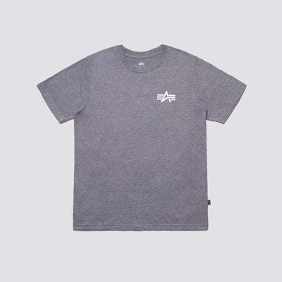 SMALL LOGO TEE TOP Alpha Industries MEDIUM CHARCOAL HEATHER 2XL