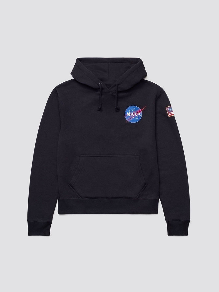SPACE SHUTTLE HOODIE TOP Alpha Industries BLACK 2XL