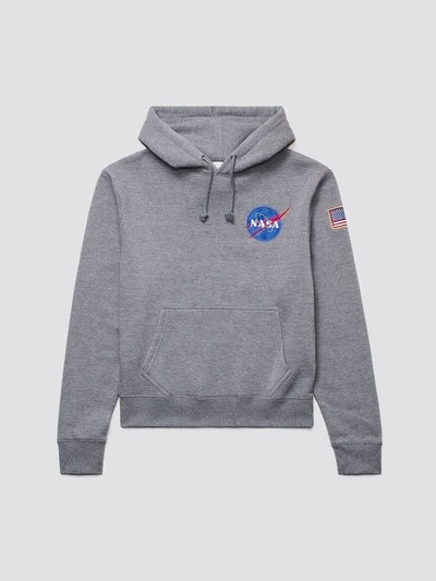SPACE SHUTTLE HOODIE TOP Alpha Industries MEDIUM CHARCOAL HEATHER 2XL