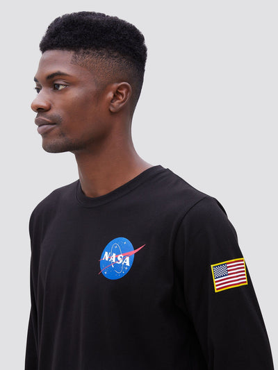 SPACE SHUTTLE LONG SLEEVE TEE TOP Alpha Industries
