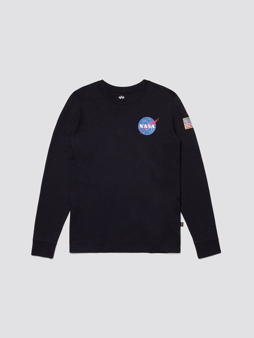 SPACE SHUTTLE LONG SLEEVE TEE TOP Alpha Industries BLACK 2XL