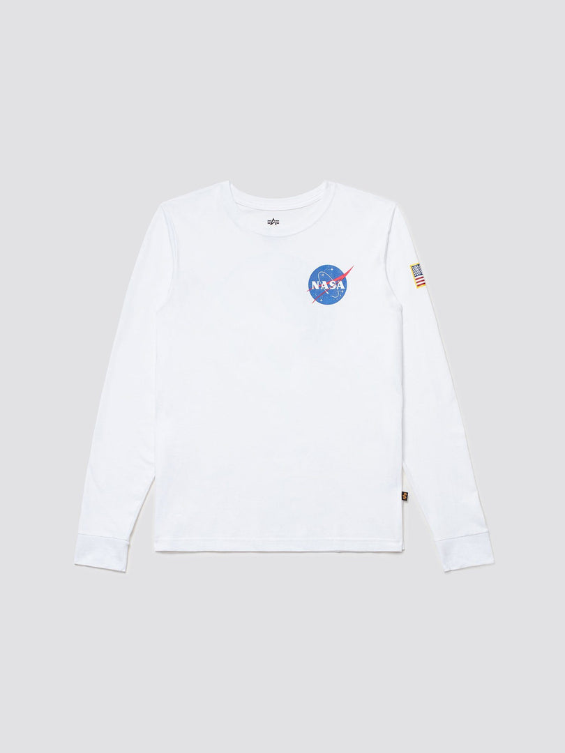 SPACE SHUTTLE LONG SLEEVE TEE TOP Alpha Industries WHITE 2XL