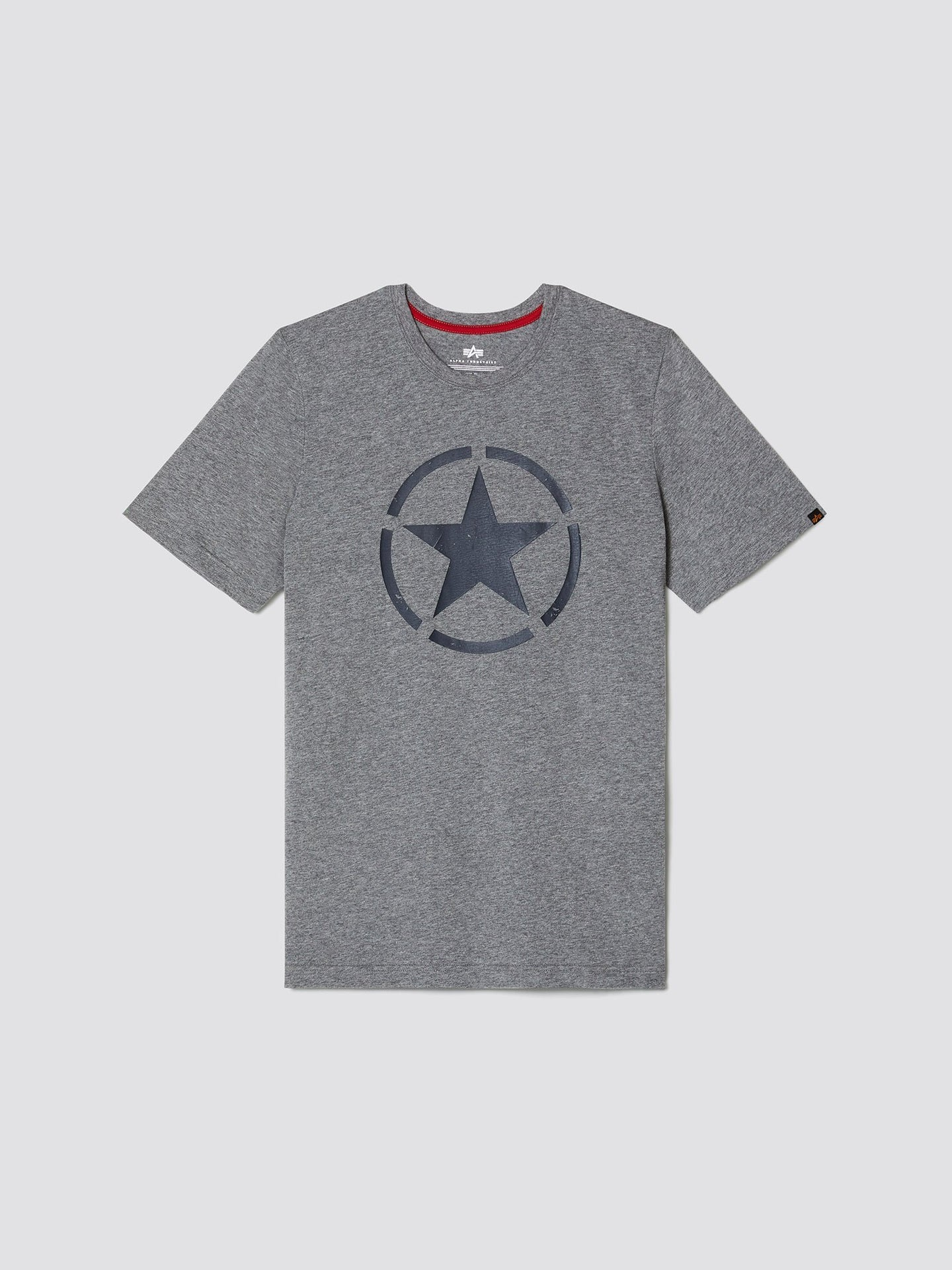 STAR TEE SALE Alpha Industries, Inc. MEDIUM CHARCOAL HEATHER 2XL