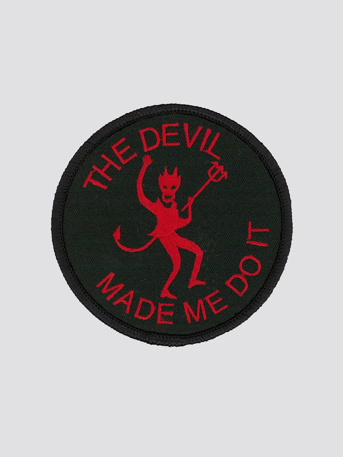 THE DEVIL MADE ME DO IT PATCH ACCESSORY Alpha Industries BLACK O/S
