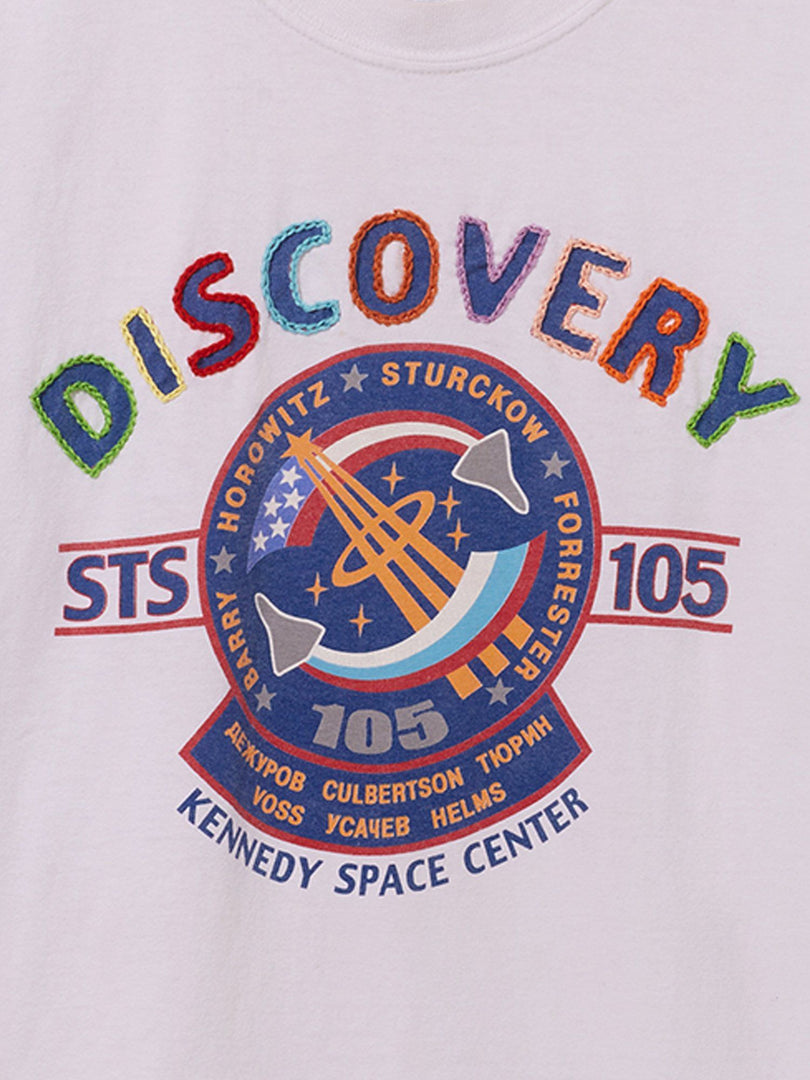 UPCYCLED NASA CHAIN STITCH DISCOVERY TEE RESUPPLY Alpha Industries, Inc.