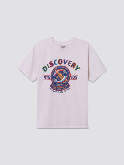 UPCYCLED NASA CHAIN STITCH DISCOVERY TEE RESUPPLY Alpha Industries, Inc. WHITE L