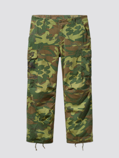 VINTAGE '70 U.S. ARMED FORCES JUNGLE FATIGUE TROUSERS ERD RESUPPLY Alpha Industries, Inc. WOODLAND CAMO MR
