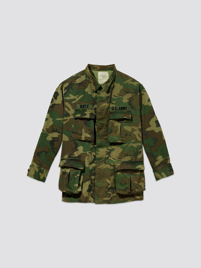 VINTAGE '80 U.S. ARMED FORCES LC-1 FIELD JACKET RESUPPLY Alpha Industries, Inc. WOODLAND CAMO M