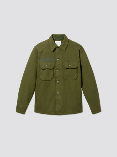 VINTAGE WOOL FIELD SHIRT OUTERWEAR Alpha Industries, Inc. OLIVE M