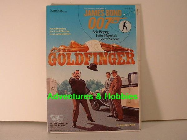 James Bond 007 RPG Goldfinger Adventure 1983 Victory OOP I7