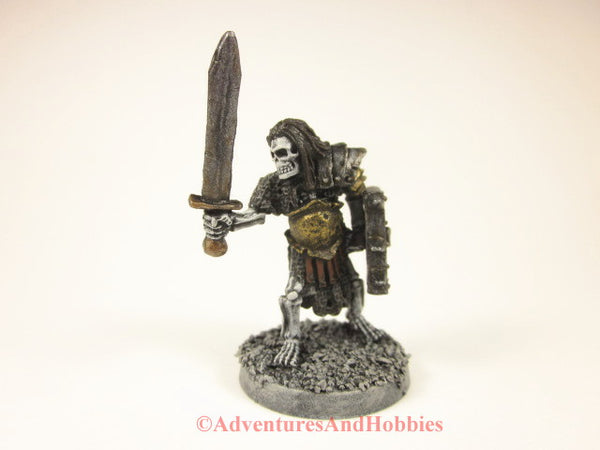 Miniature fantasy evil undead skeleton warrior 106 for role-playing games and wargames.