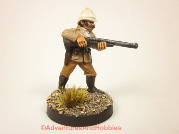 Painted Miniature Victorian African Explorer 123 For Pulp and Call of Cthulhu Tabletop Games in 25-28mm Scale