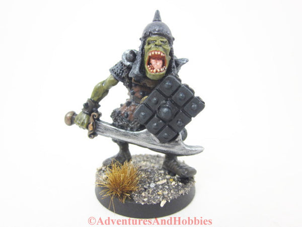 Greater Orc Warrior Miniature 123 Painted Fantasy Figure 25mm D&D