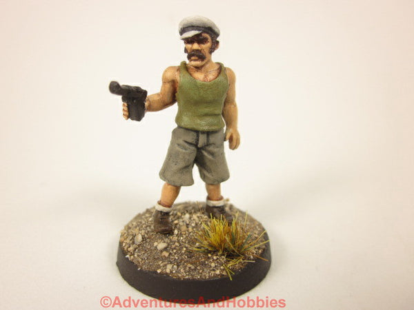 Painted Miniature Tramp Sailor With Pistol 124 For Pulp and  Call of Cthulhu Tabletop Games in 25mm scale