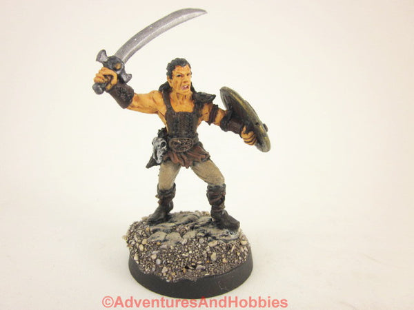 Fantasy Miniature D&D Brigand Warrior Painted Reaper 132