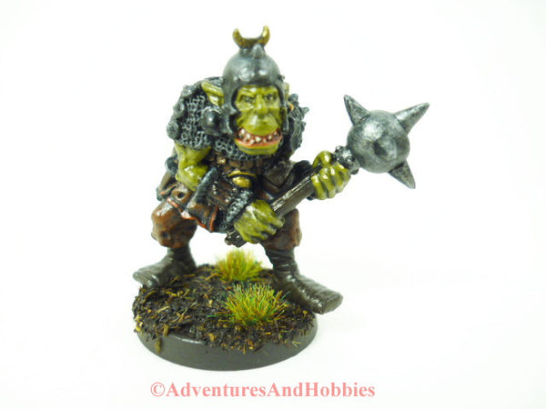 Greater Orc Warrior Miniature 203 Painted Fantasy Figure 25mm D&D
