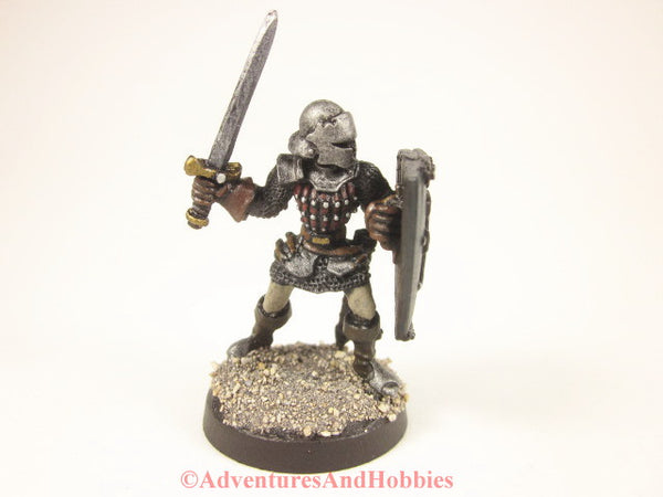 Fantasy Miniature Knight Warrior With Longsword 204 Painted D&D 25mm